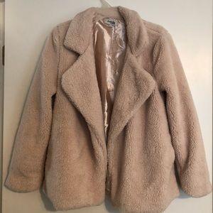 Charlotte Russe tan fur teddy jacket